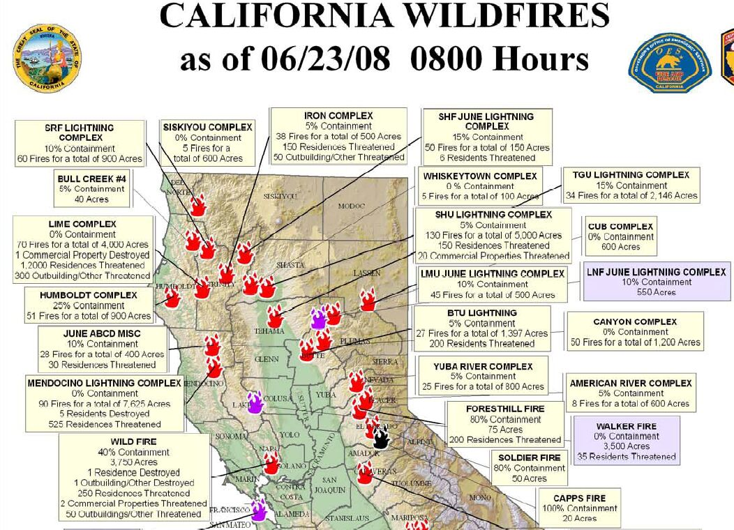 Northern California Wildfire Map HighBoldtage - Map of northern california